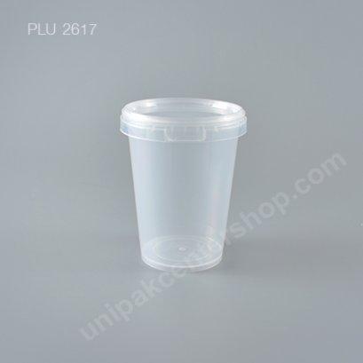 กล่อง Safety Seal กลมPP+ฝาใส (650ml) No. 1657