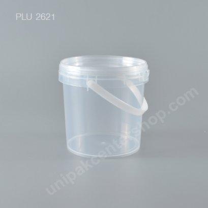 ถัง Safety Seal กลมPP+ฝาใส + หูหิ้ว (900ml) NO.1625