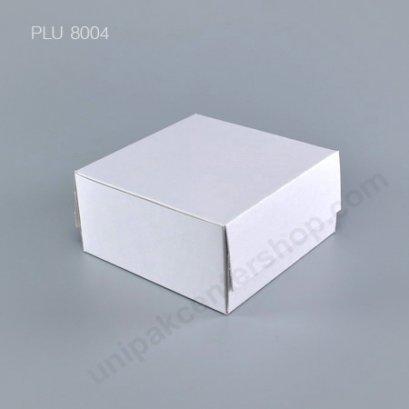 กล่องเค้ก กระดาษ 20.5x20.5x8.5cm สีขาว (1 ปอนด์)