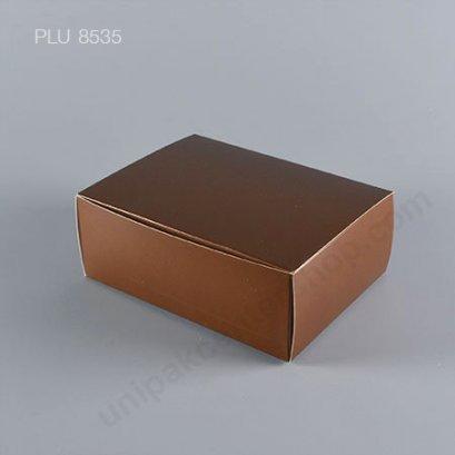 กล่องเค้ก กระดาษ 12x16x6cm สีช็อคโกแลต
