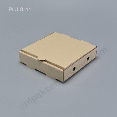 """กล่องพิซซ่า กระดาษ 7"""" + แผ่นรอง (Pizza Takeaway Box)"""