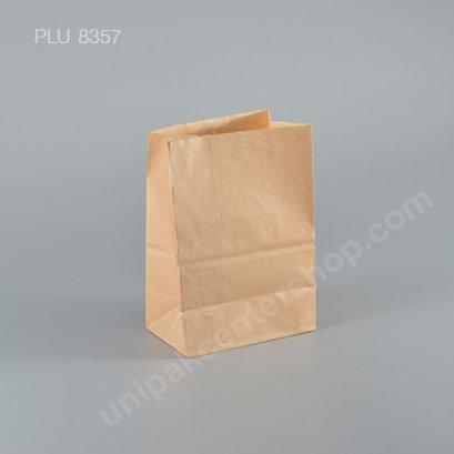 ถุงกระดาษพับข้างสีน้ำตาล 4x6 ก้น 2.6 in.