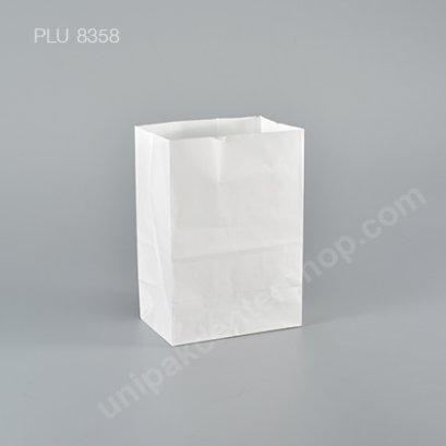ถุงกระดาษพับข้างสีขาว 4x6 ก้น 2.6 in.