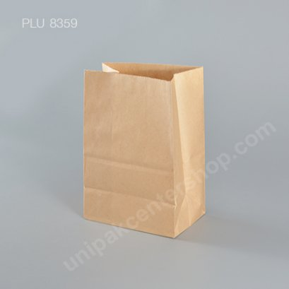 ถุงกระดาษพับข้างสีน้ำตาล 5x7 ก้น 3 in สินค้างดจำหน่าย