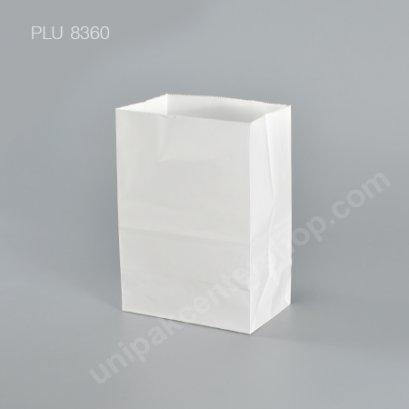 ถุงกระดาษพับข้างสีขาว 5x7 ก้น 3 in.