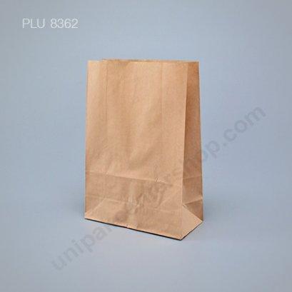 ถุงกระดาษพับข้างมีก้น สีน้ำตาล ขนาด 12 x 5 x 17 cm