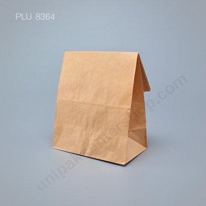 ถุงกระดาษพับข้างมีก้น สีน้ำตาล ขนาด 15 x 9 x 27 cm