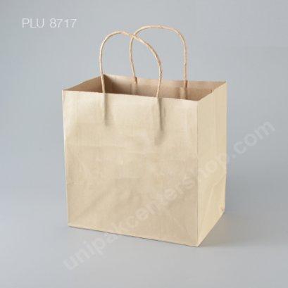 ถุงกระดาษหูเกลียวน้ำตาล 23x15x23.5 cm
