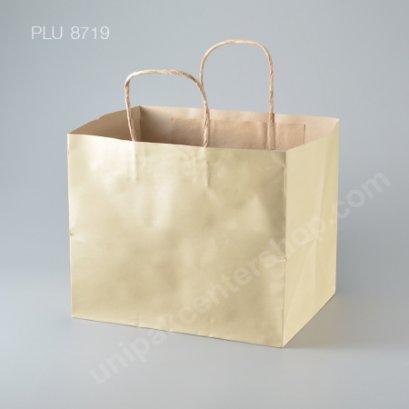ถุงกระดาษหูเกลียวน้ำตาล 28x21.5x23.5 cm
