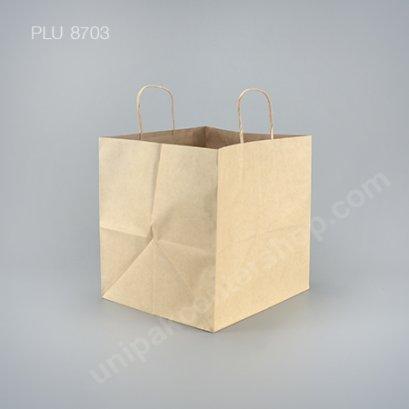 ถุงกระดาษหูเกลียวน้ำตาล 28x26x28 cm.