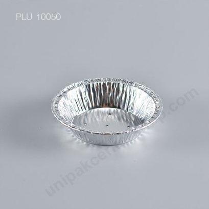 ถาดฟอยล์ กลม-S - ไซส์เล็ก Silver + เจาะรู (Small Round Foil Tray) No.3001