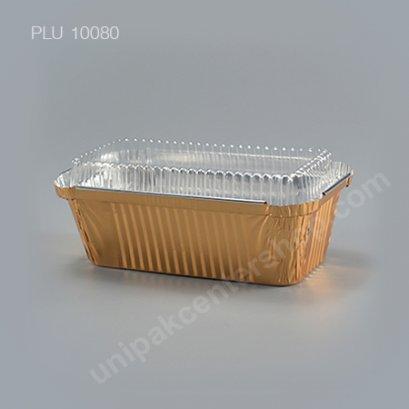 ถาดฟอยล์ 4007 สีทอง + ฝา (Gold Foil Tray)
