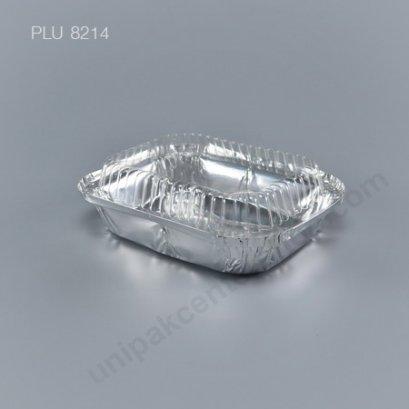 ถาดฟอยล์ กลม-M - ไซส์กลาง Silver + ฝา (Medium Rectangle Foil Tray) NO.401