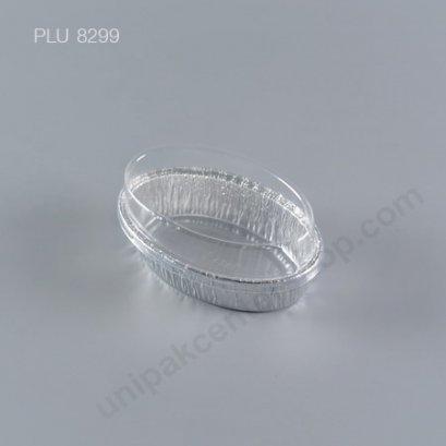 ถาดฟอยล์ วงรี-M - ไซส์กลาง 6.3x10.2x5.5cm Silver (Large Rectangle Foil Tray)NO.6301