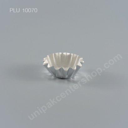 กระทงกระดาษฟอยล์ ลอนใหญ่ 5.5x3.3x2 cm (Silver Foil Paper Cupcake Liner) (S-25)