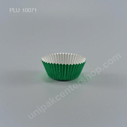 กระทงกระดาษฟอยล์ 7.3x5x3.2 cm (Green Foil Paper Cupcake Liner) (3219 GREEN)