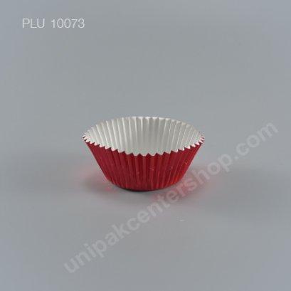 กระทงกระดาษฟอยล์ 7.3x5x3.2 cm (Red Foil Paper Cupcake Liner) (3219 RED)