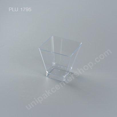 แก้วสี่เหลี่ยมใส PSใส No.802