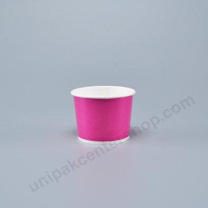 ถ้วยไอศกรีมกระดาษ 4 ออนซ์ สีม่วงชมพู