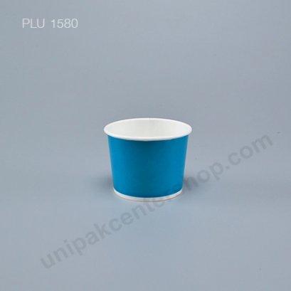 ถ้วยไอศกรีมกระดาษ 4 ออนซ์ สีฟ้า