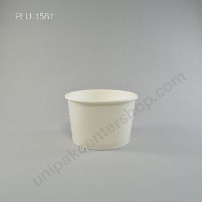 ถ้วยไอศกรีมกระดาษ 8 ออนซ์ ขาว