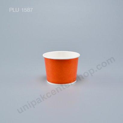 ถ้วยไอศกรีมกระดาษ 4 ออนซ์ สีส้ม