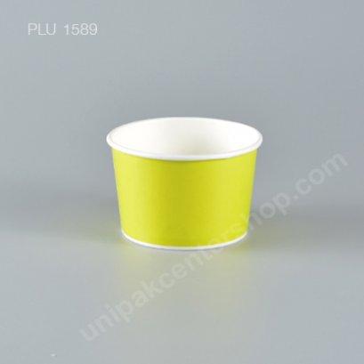 ถ้วยไอศกรีมกระดาษ 8 oz. สีเขียว (Paper Ice Cream Cup - Lemon)