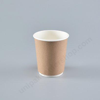 ถ้วยกระดาษ 8 ออนซ์ (DW) ถ้วยในขาว + ปลอกกระดาษคราฟ