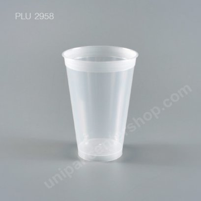 แก้ว น้ำดื่ม Rigid PP แข็งใส 16 oz. ปาก 88 mm.