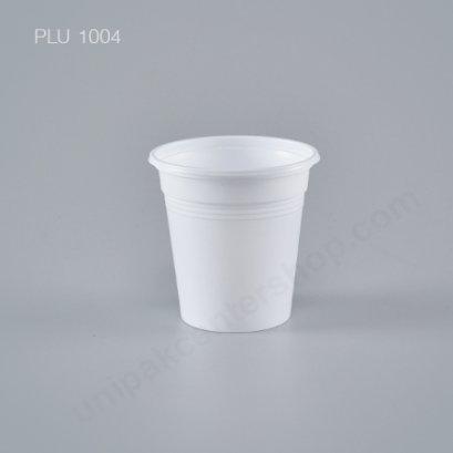 ถ้วยชิม 4 ออนซ์ PS ขาว สีขาว ลายเรียบ (EPP)