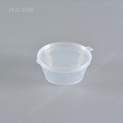 ถ้วย กระปุก PP 6.1x4.5x2.7 น้ำจิ้ม ซอส ฝาในตัว 1.5 oz.