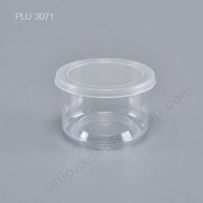 กระปุก ใส่อาหาร น้ำพริก PS 7x5cm + ฝาฉีก Safety Seal 6062