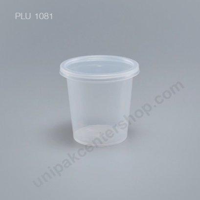 ถ้วยเต้าฮวย พุดดิ้ง PP + ฝาฉีก นูนใส (6 oz) AC450