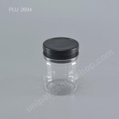 กระปุก PET 400 gm + ฝา 2 ชั้น (ดำ)