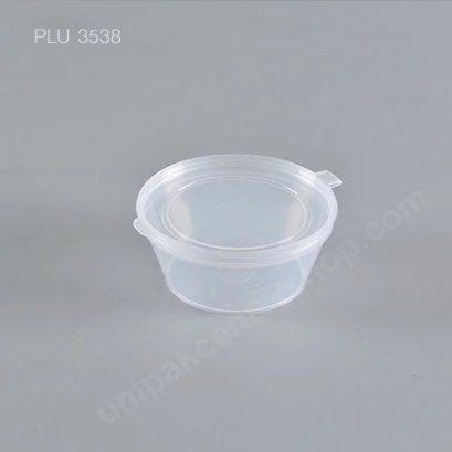 ถ้วย กระปุก PP 6.1 x 4.5 x2.7 น้ำจิ้ม ซอส ฝาในตัว 1.5 oz.