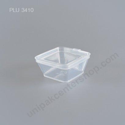 กระปุกใส่อาหาร PP เหลี่ยม UP-0035 ฝาในตัว