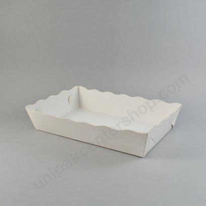 ถาดกระดาษอาหารขาว ขนาด 4.5 x 7.5 นิ้ว (DW301-1)