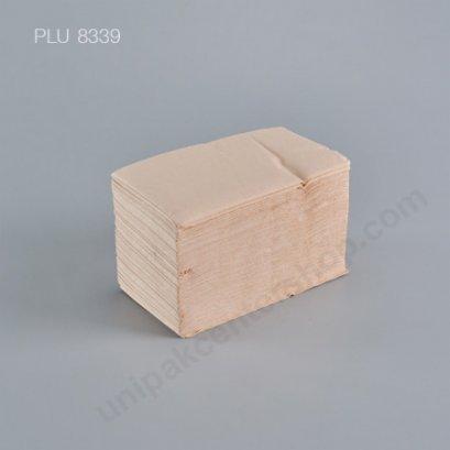 กระดาษทิชชู่สีน้ำตาล 33x33 (1ชั้น) พับ 8