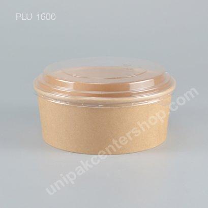 ถ้วยกระดาษคราฟ B (L) + ฝา PET 1100 ml