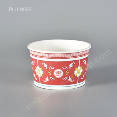 Fest ชามกระดาษปลอดภัย 850 ml. (PL013) ลายจีน