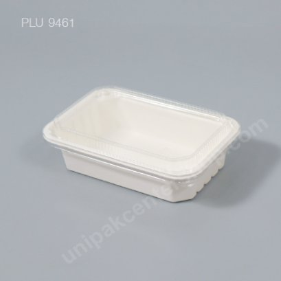 Fest กล่องอาหารเยื่อธรรมชาติ 600 ml. (HM-001)พร้อมฝา