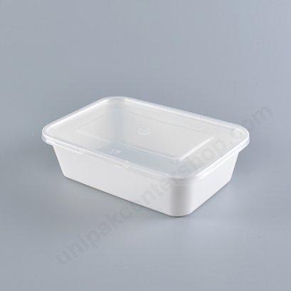 กล่องอาหาร Bio Material ขนาด 650 ml.พร้อมฝา