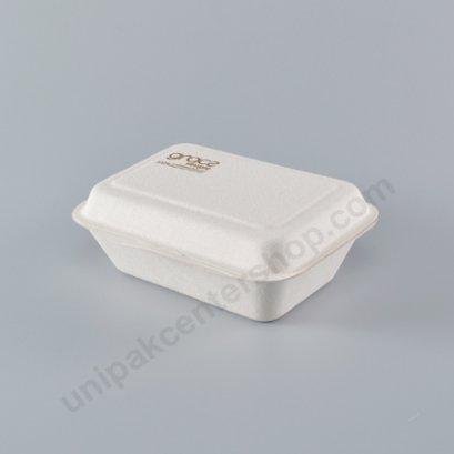 Bio เยื่อไผ่ กล่องอาหารเหลี่ยม B001 - 600 ml