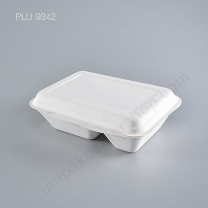 Bio ชานอ้อย กล่องอาหาร 2 ช่อง (B011) 750ml
