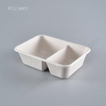BIO เยื่อไผ่ กล่องอาหาร 2 ช่อง T602 600 ml. GRACZ
