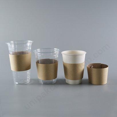 ปลอก แจ็กเก็ต ลูกฟูก Kraft สำหรับแก้วกาแฟ (Cup Jacket Sleeve)