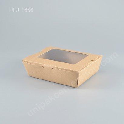 กล่องกระดาษคราฟ เจาะหน้าต่าง 900 ml.