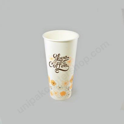 ถ้วยกระดาษ 22 oz (660 cc) ลาย IN LOVE COFFEE ตรา โรดดี้แพค