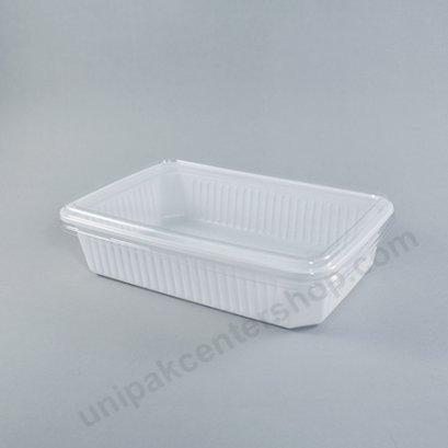 กล่องใส่อาหาร 1ช่อง 250gm PPขาว+ฝาPET ตรา โรดดี้แพค