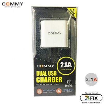 Adapter Dual USB AD-204 (2.1A) Commy